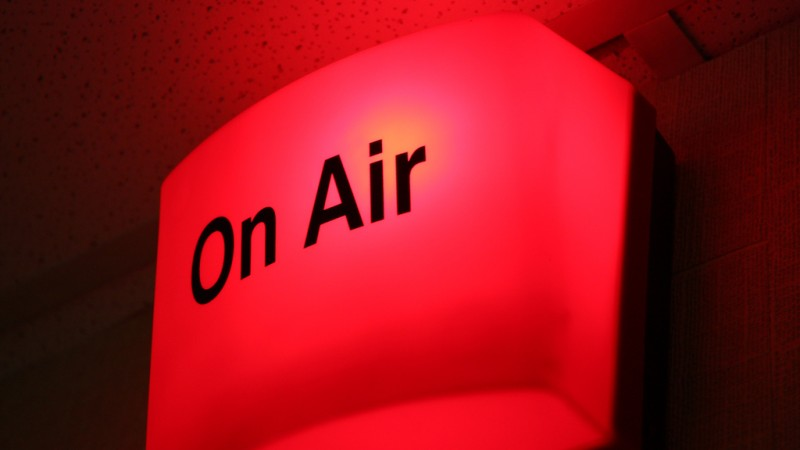 On air. Curtis Kennington CC BY