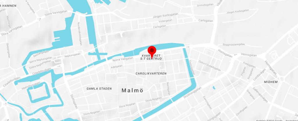 Karta av Malmö till Internet i fokus